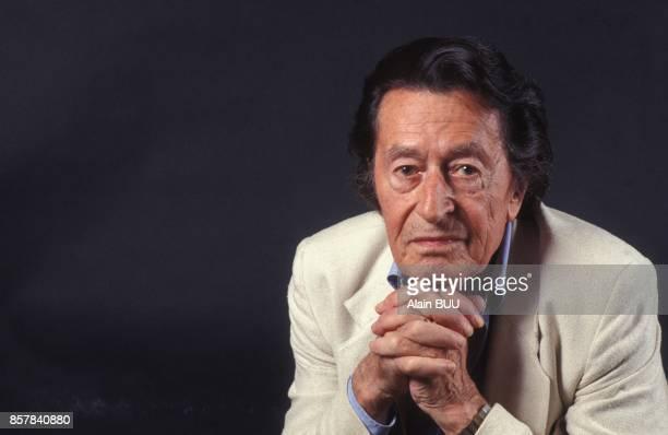 Close up Henri Laborit chirurgien et neurobiologiste le 18 juin 1992 a Paris France