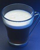 Close Up Image of Irish Coffee, High Angle View, Close Up