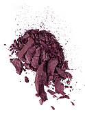 A close up image of purple eye shadow makeup