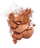 A close up image of smashed foundation powder