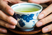 Close up Japanese tea