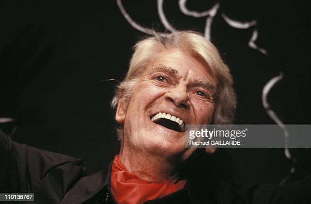Close up Jean Marais in France on September 29 1987