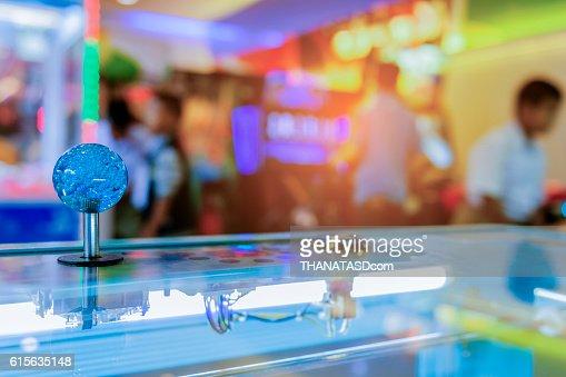 Close up Joystick of arcade.,Vintage tone,Close up Joystick : Stock Photo