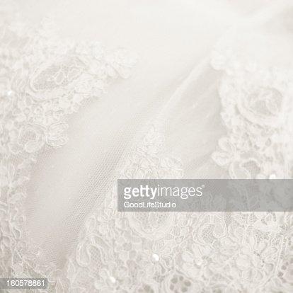 Close up lace detail, wedding dress pattern