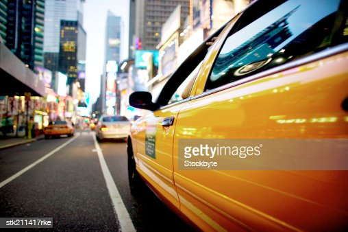 Close up nighttime view of Times Square, New York City : Stock Photo