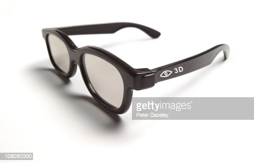 Close up of 3D glasses with copy space