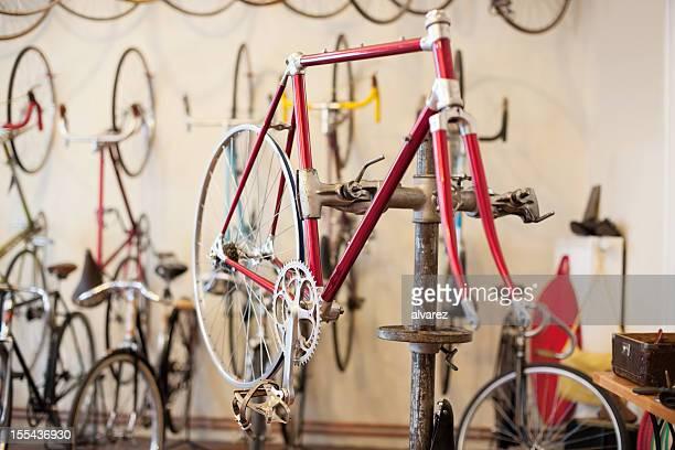 Nahaufnahme von einem Fahrradrahmen