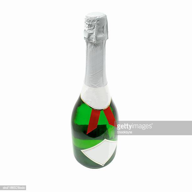 Close up of a bottle of champagne