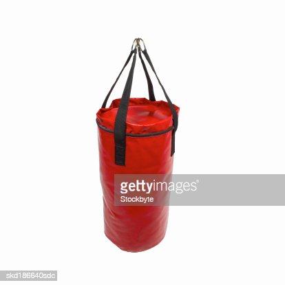 Close up of a boxing bag : Foto stock