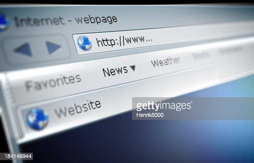 Close up of a broswer address bar