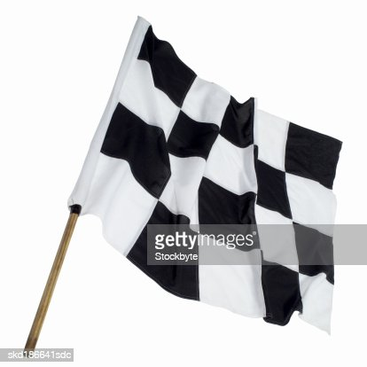 Close up of a checkered flag