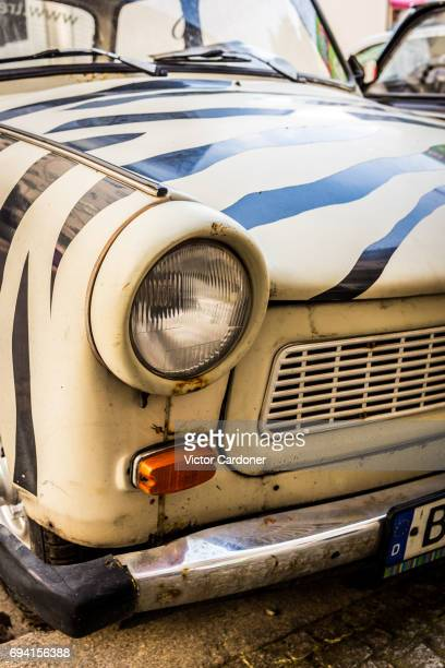 Close up of a classic Trabant car