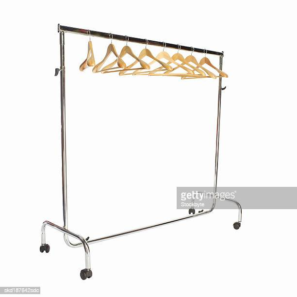 Close up of a clothes rack