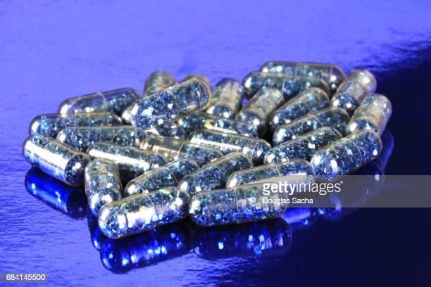 Close up of a club drug pills
