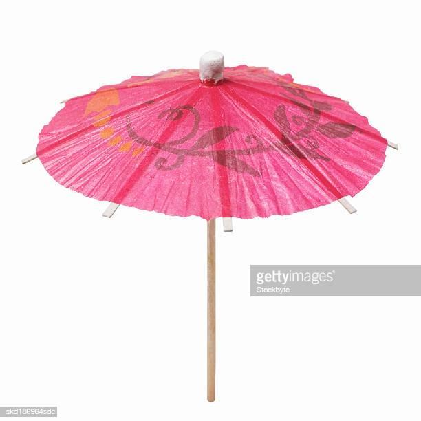 Close up of a cocktail umbrella