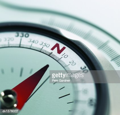 Close Up of a Compass : Stock Photo