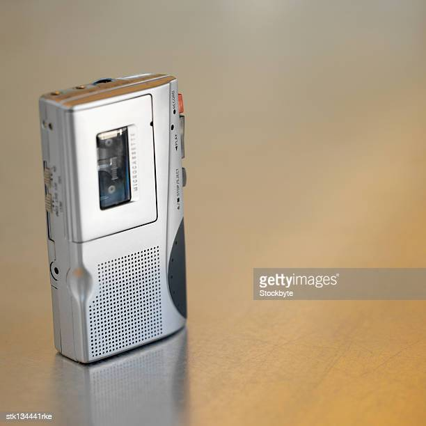 close up of a Dictaphone