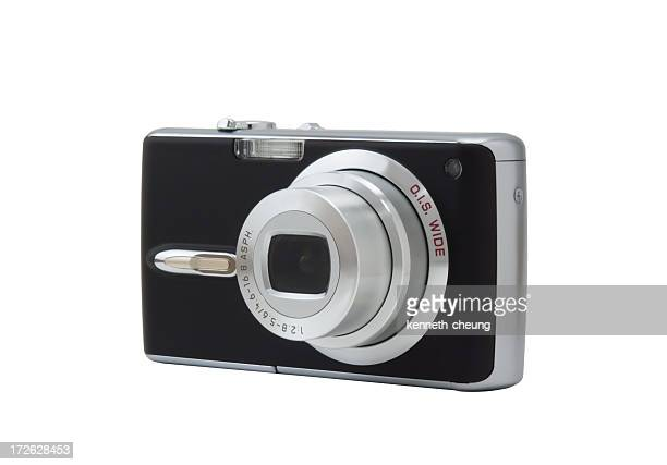 A close up of a digital camera