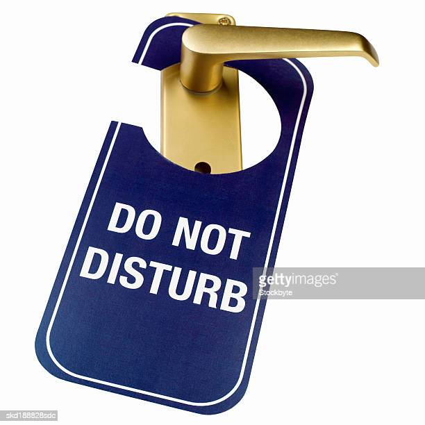 Close up of a 'do not disturb' sign