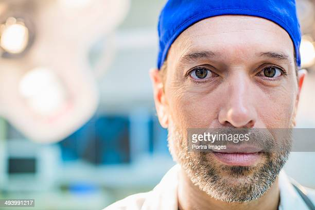 Close up of a doctor in operating room