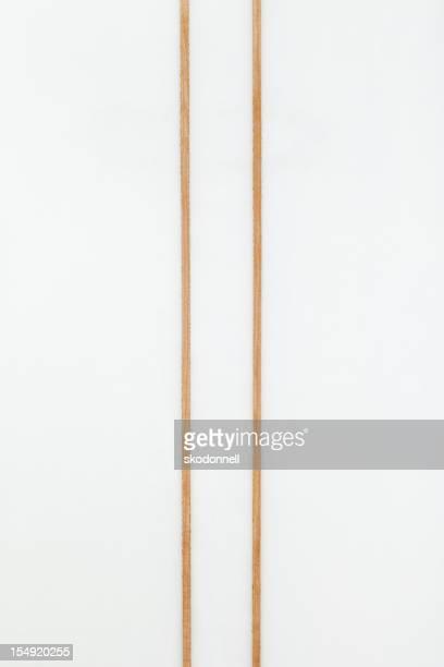 クローズアップのダブルストリンガーサーフボード
