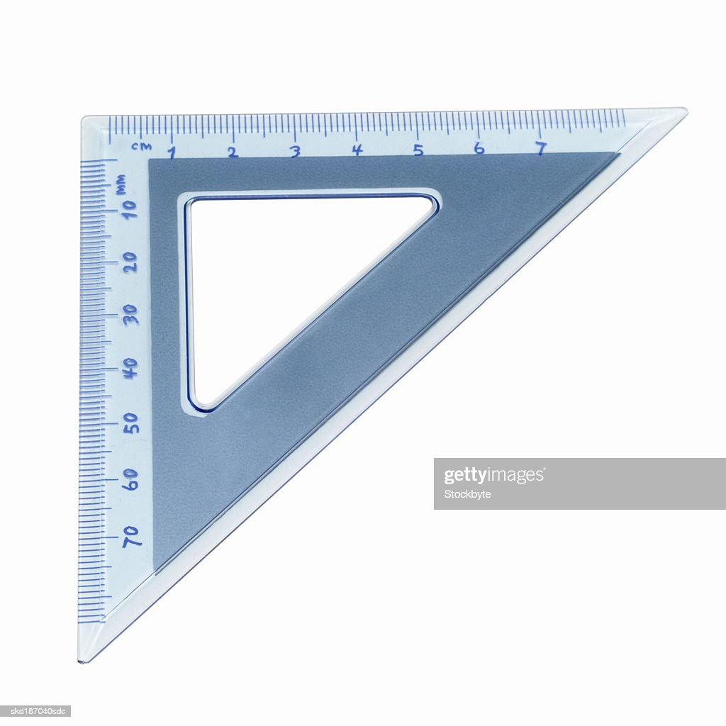 Close up of a drawing protractor