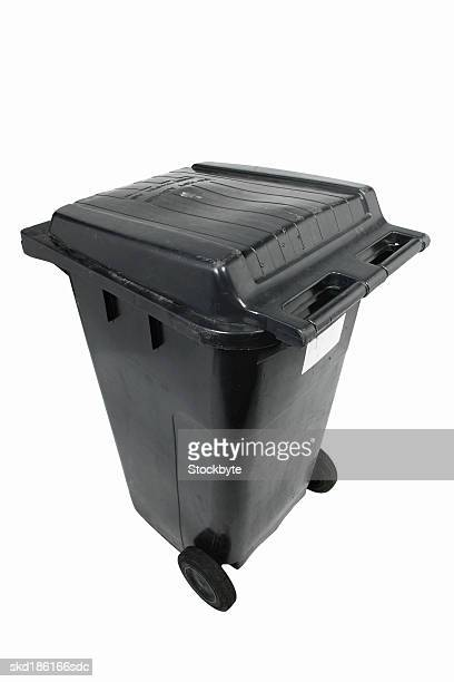 Close up of a dustbin