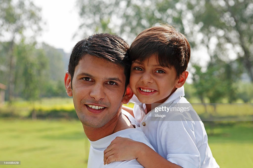 Close up of a father and his son : Stock Photo