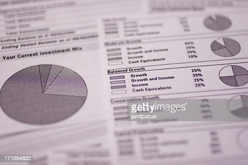 A close up of a financial spreadsheet