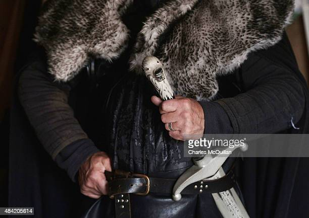 A close up of a Game of Thrones tour guide's costume and sword in Strangford on August 13 2015 in Belfast Northern Ireland According to recent...