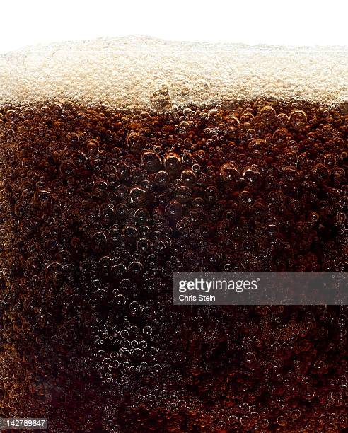 Close up of a glass of soda