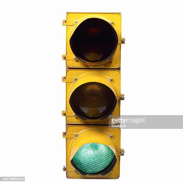Close up of a green go traffic light