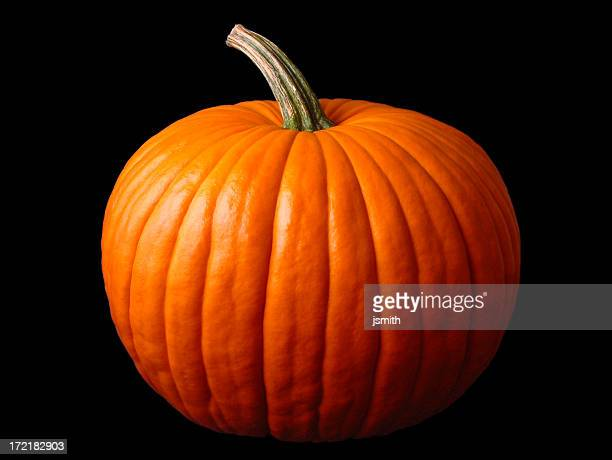 Close up of a large Halloween pumpkin