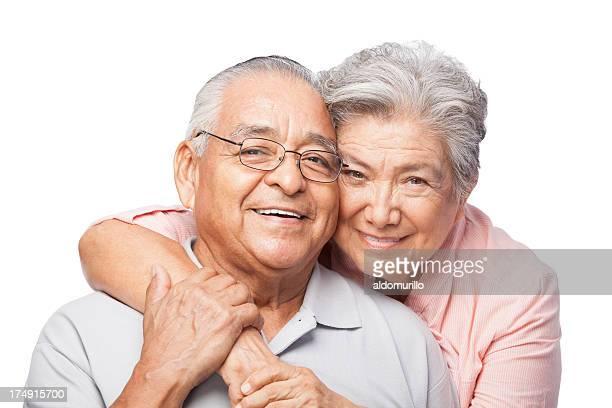 Plano aproximado de um amoroso Casal Idoso