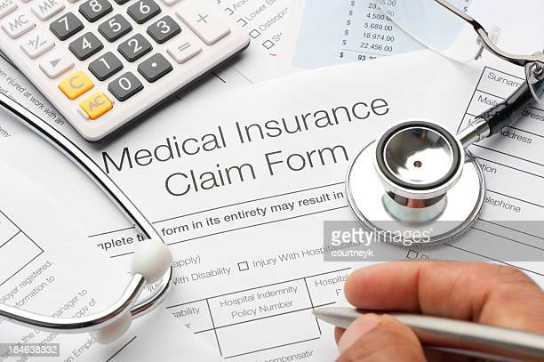Gros plan d'une assurance maladie forme