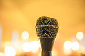 Close up of a microphone