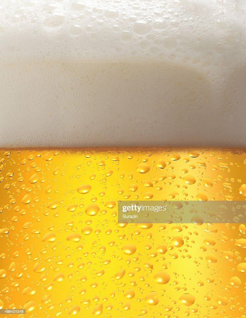 Close up of a mug of beer