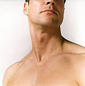 Close Up of a Naked Man's Neck