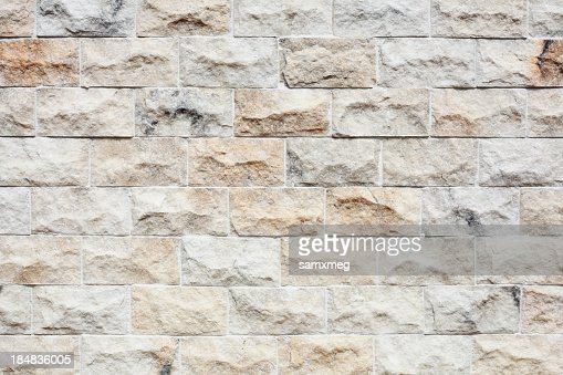 Close up of a newly constructed brick wall