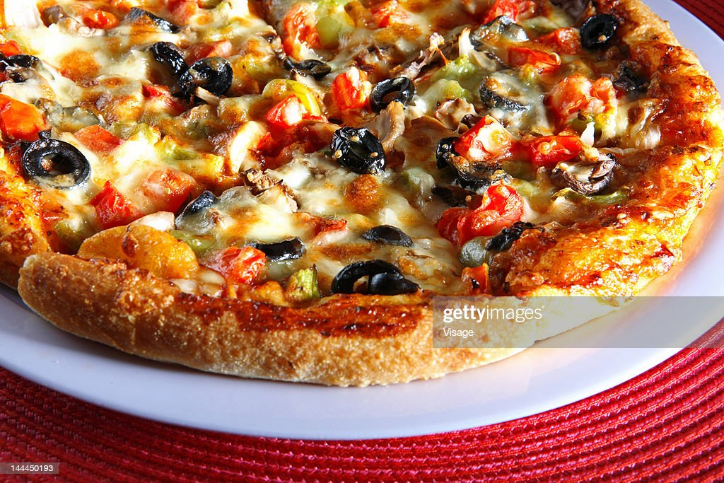 Close up of a pizza : Stock Photo