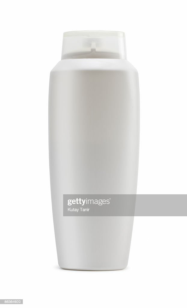 Close up of a plastic bottle, isolated on white.