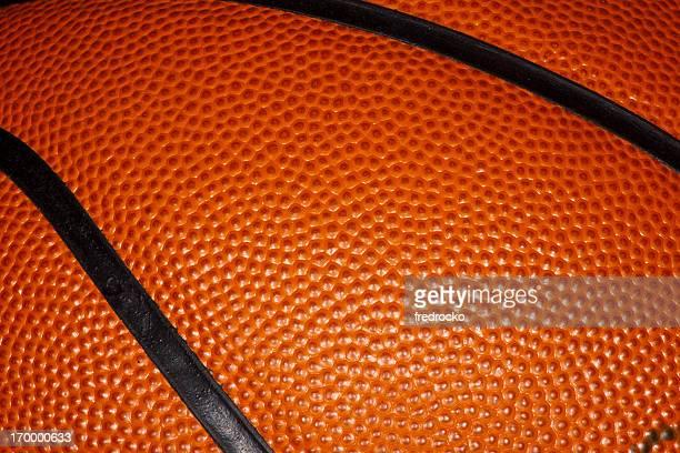 Gros plan d'une équipe professionnelle de basket-ball en cuir