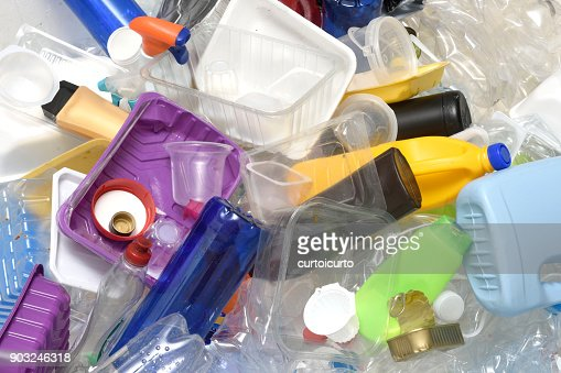 close up of a Recycling plastic : Stock Photo