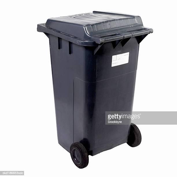Close up of a rubbish bin