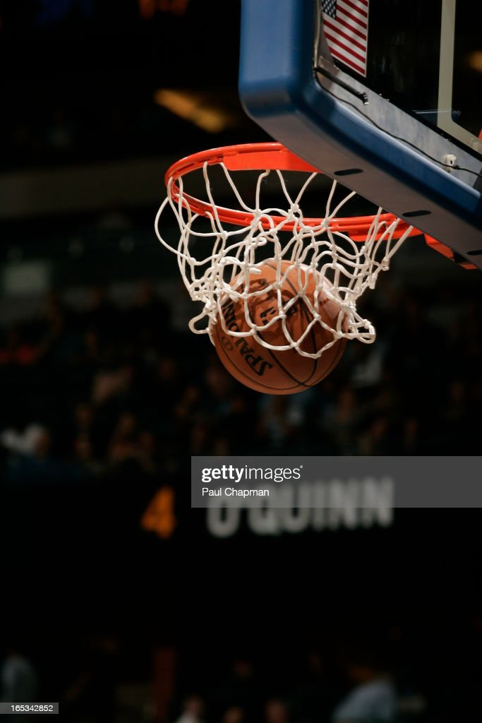 A close up of a shot that was made during the Orlando Magic game where they played against the Washington Wizards on March 29, 2013 at Amway Center in Orlando, Florida.