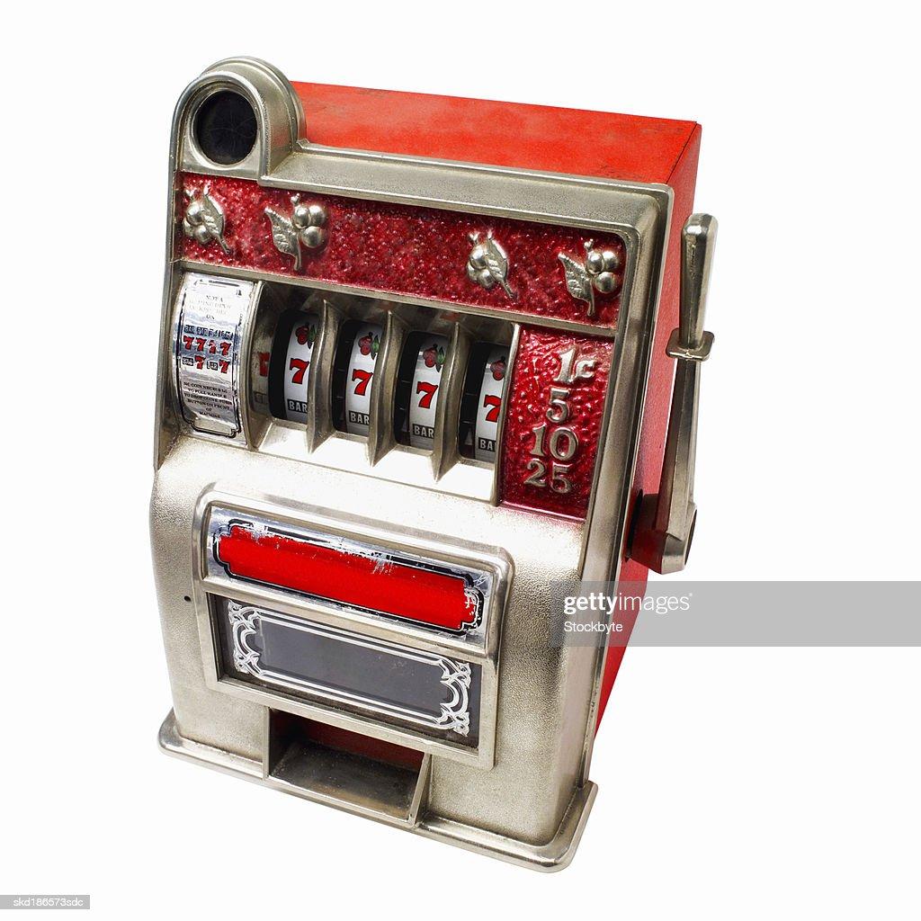 Close up of a slot machine : Stock Photo