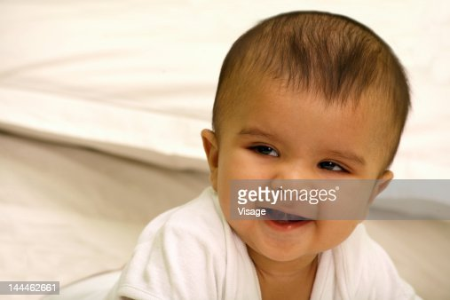 Close up of a smiling baby : Stock Photo