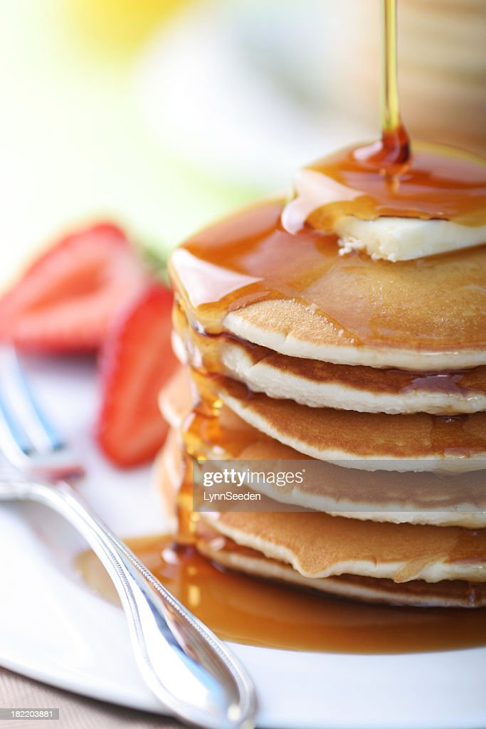 Close up of a stack of pancakes : Stock Photo
