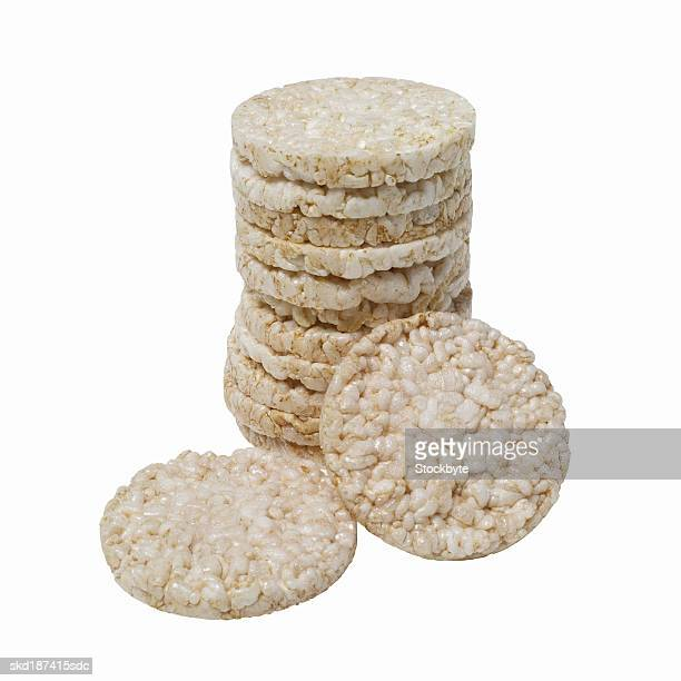 Close up of a stack of rice cakes