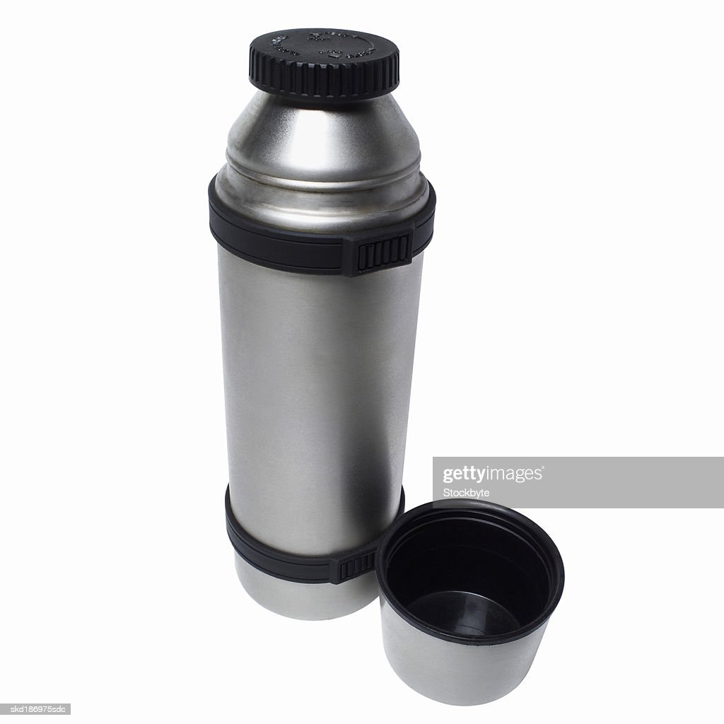 Close up of a steel flask : Stock Photo